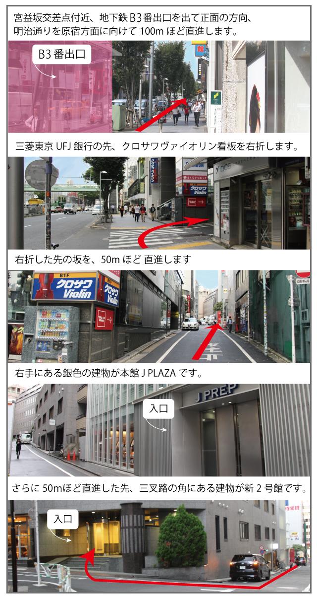 渋谷校へのルート