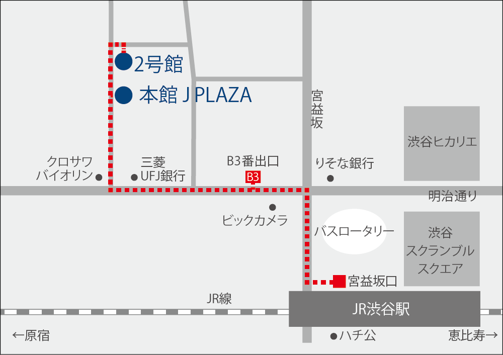 渋谷校マップ